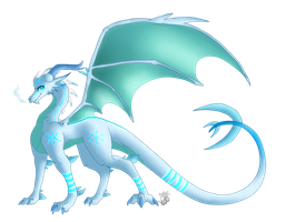 :Commish: - Ice Dragoness Design by Venus-Dragoness