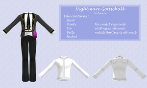 MMD Nightmare Gottschalk Outfit DL by 0-0-Alice-0-0