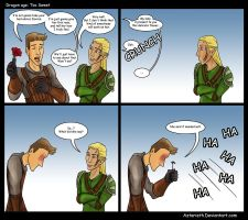 Dragon age Comic: Too Sweet by Aztarieth