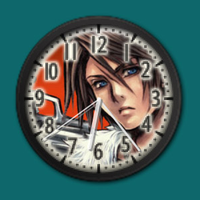 Anime Clock (customizable background) by ButzYung