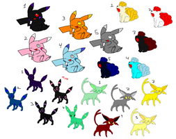 Mixed Pokemon Adoptables All 1 Point [OPEN] by NightDazeZoroark
