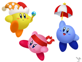 Kirby BFFs by HideTheDecay