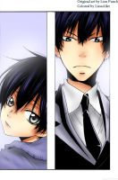 KHReborn 'It's me?' young and adult Hibari Kyoya by LissaAller