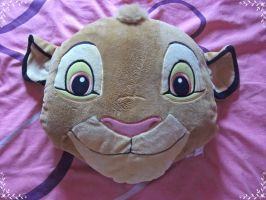 Old Simba Plush Head Cushion by fullmoonlupin