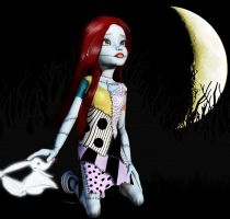 Sally on a Cloudless Night by vallo