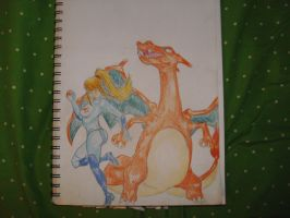 Samus and Charizard by squishy-jelly-apple