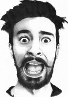 Kyle Simmons (Bastille Band) Drawing by Gigy1996