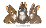 The Hares' Leverets by Katmomma