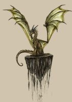 a Dragon ready to fly I by Rotfeder