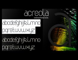 Acreola - Modular font. by send