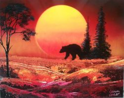 Bear at Sunset by JessicaSoulier