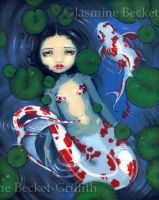 Koi Pond Mermaid by jasminetoad