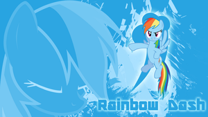 Dashing Against the Wind - Rainbow Dash Wallpaper by cradet
