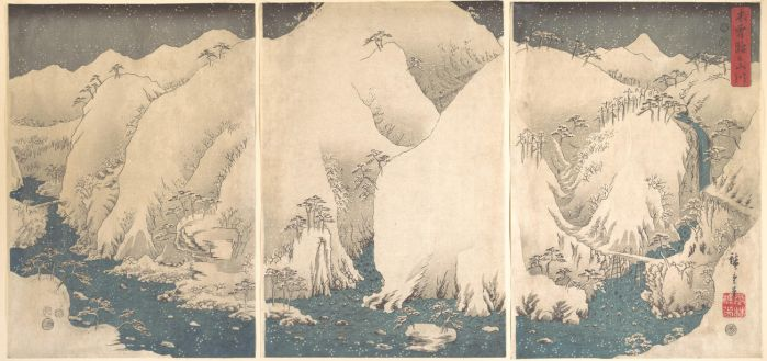 Utagawa Hiroshige  - Kiso Gorge in the Snow by ArtLovers68
