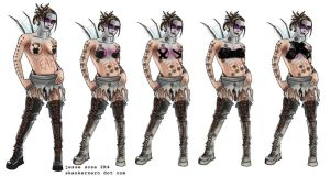 Female Punk Concepts by skankerzero