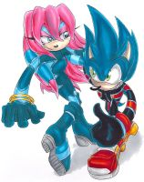 PC: Sky and Sonic by KimsSpace