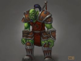 Warcraft Horde Warrior by VenskeArts