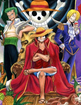 OnePiece-Luffy The Pirate King by mayshing
