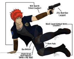 Ray - TheZombocalypse rp Character by albinoraven666fanart