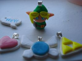 Legend of Zelda charms by SourKiss