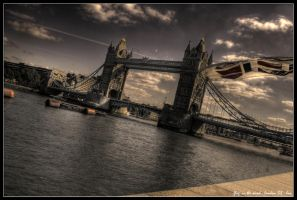 london - flag in the wind by haq