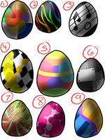 Dragon Adopts Egg Batch 1 OPEN (1 LEFT) by puddathere