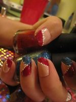 4th of July Nail Art by SugiAi