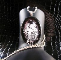 Crow in the field necklace by AngelElementsEtsy
