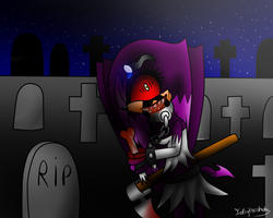 Killer at the graveyard by Kathy-the-echidna
