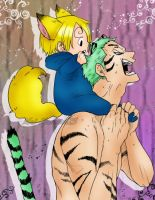 Zoro and Baby Sanji by Mel-Kuronoa15