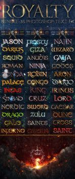 Royalty Bundle - 36 Photoshop Text FX by fluctuemos