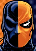 Deathstroke   Portrait Series by Thuddleston