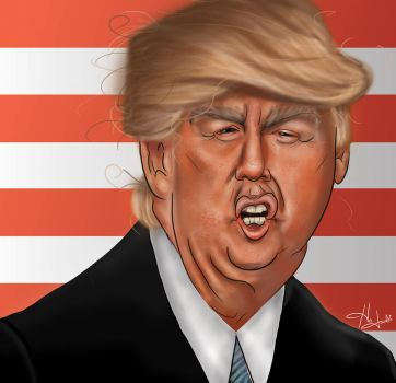 Donald Trump Caricature by HJacobi