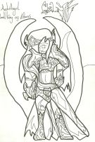 Gabriel War Pic: Uncoloured by xxxBrokenSoulxxx