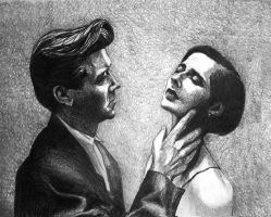 David Lynch and Isabella Rossellini by raschiabarile