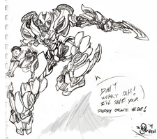 Car-Arcee Orig. Sketch by Th4rlDEAL