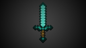 Minecraft sword by Fivezero09