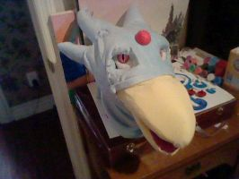 My Nova the Golduck Head complete 2 by SpaceRanger108