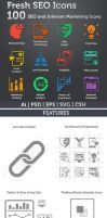 100 Free SEO and Internet Marketing icons by azisher