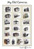 My Old Cameras Poster rld 01 dasm by richardldixon