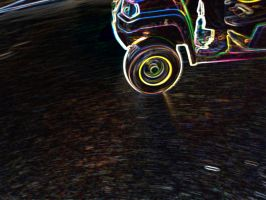 Black Buggy Spin by SimBbArt