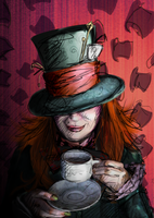 Malena the hatter by mapache87