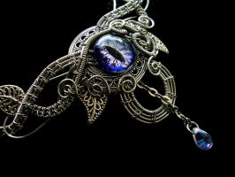 Custom Ordered Circlet - Blue Dragon Eye by LadyPirotessa
