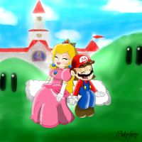 Mario and Peach always together by chiby-furry