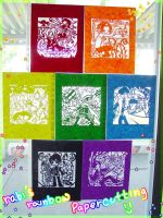 Kirakira Rainbow Papercutting by vinnick