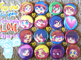 Button Set HELL YEAH by FlyAwayMax