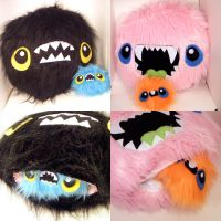 MORE MEGA MONSTER PILLOWS by loveandasandwich