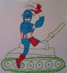 Capt.America Rides Into Battle by captainamerica