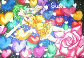 White Hearts. GUMI by CuSith107