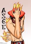 Fire Ace coloring by AnnaHiwatari